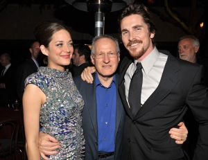 Photo of Marion Cotillard, Michael Mann and Christian Bale (Wire Image/Cohen)