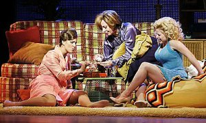 9 to 5 Cast: Judy (Stephanie Block), Violet (Allison Janney) and Doralee (Megan Hilty).
