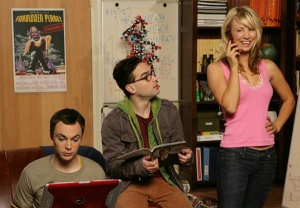 Jim Parsons, Johnn Galecki, Kelly Cuoco of Big Bang Theory Photo: CBA