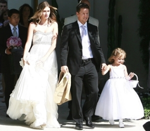 Mark Walhberg, wife Rhea and daughter Ella. Photo: