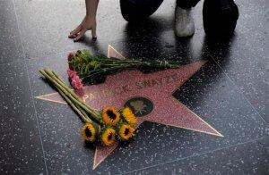Patrick Swayze's Star on The Hollywood Walk Of Fame. (AP Photo/Jae C. Hong)
