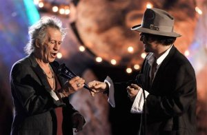 Keith Richards and Johnny Depp (AP Photo/Chris Pizzello)