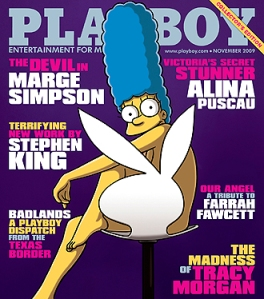 Marge Simpson November Playboy Photo: Reuters