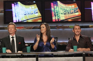 "Adam Shankman judge the competition on ""So You Think You Can Dance"" Pictured: (L-R) Nigel Lythgoe, Mary Murphy and Adam Shankman"